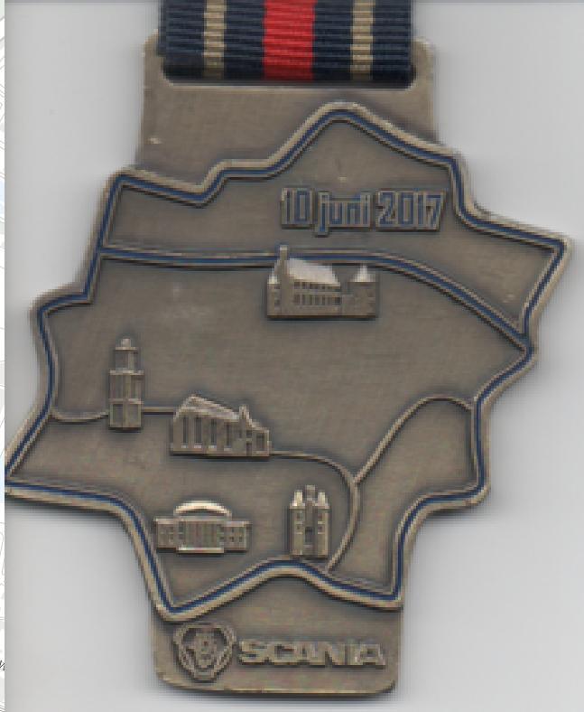 original medal of Zwolle half marathon 2017